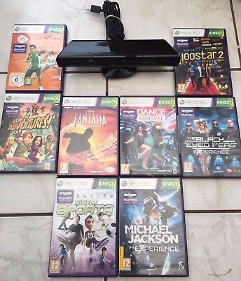 Kinect sensor Bundle with 7 Games Inc Kinect Adventure Game For Xbox 360 Console