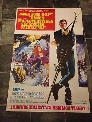 James Bond 1969 On Her Majestys Secret Service Re-Released Finland Issue Poster