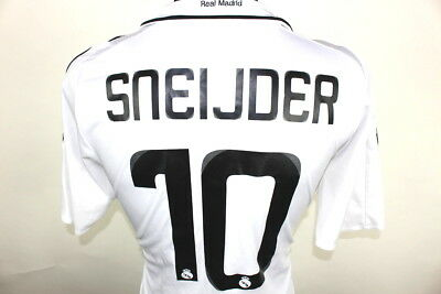 Excellent Shirt Real Madrid Adidas 2008/09 Sneijder #10 Home Jersey Size (M)