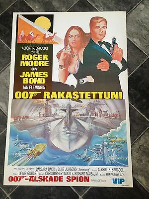 James Bond 1977 The Spy Who Loved Me Re-Released Finland Issue Movie Poster