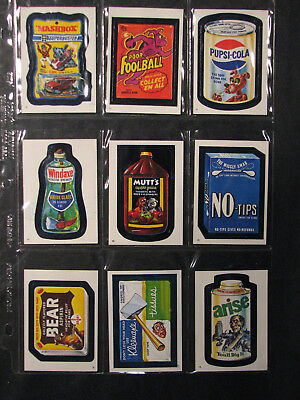 Topps Wacky Packages 1982 Album Stickers lot of 9