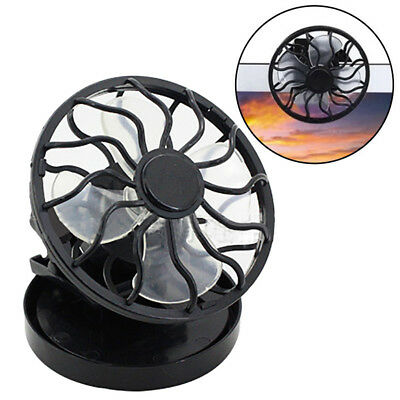 Portable Clip On Solar Cell Fan Sun Power Energy Panel Cooling Summer Cooler2