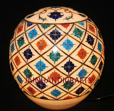 """12"""" Candle Lamp Stand  Marble Art handmade Stone inlay mosaic Home Decorative"""