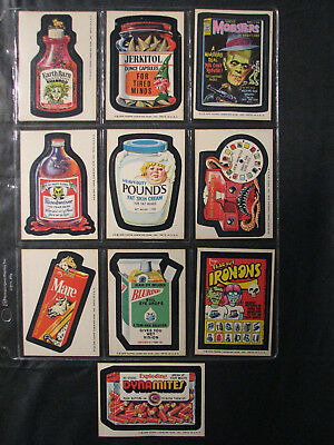 Topps Wacky Packages 1975 lot of 10 - series 15