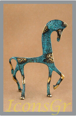 Ancient Statue Geometric Era Horse Greek Bronze Museum Replica A  Collectable
