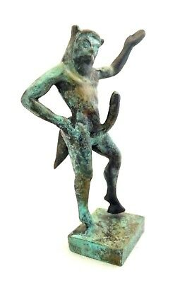 Ancient Greek Bronze Museum Mythology Statue Replica Satyrus Satyr Pan Dionysus