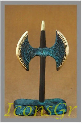 Minoan Crete Double Battle Axe Labrys Ancient Greek Bronze Replica  Collectable