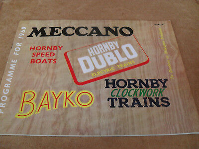 Meccano/hornby/bayko Trade Toy Catalogue 1960 Export Edition Vn Mint For Age