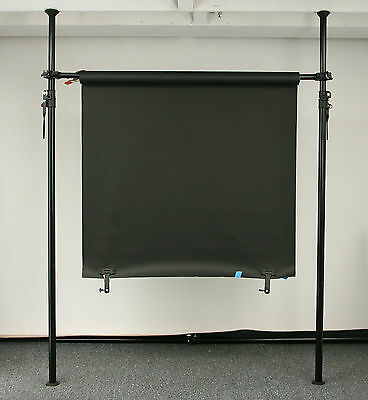 Manfrotto Auto Pole TWO autopoles Black,  super clamp w/ arms, background stand