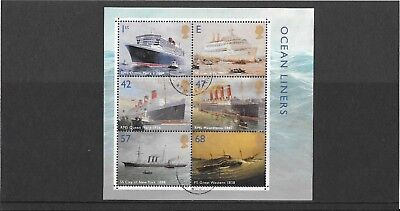GB mint stamps - 2004 Ocean Liners Minisheet, MS2454, used