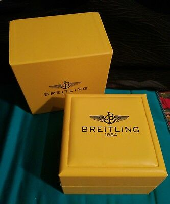 Breitling Vintage Watch Box Leather Scatola Orologio In Pelle