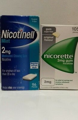 Nicorette Original & Nicotinell Mint Gum 2mg x 201 Pieces