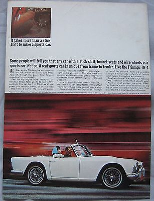 1965 Triumph TR4 Original advert