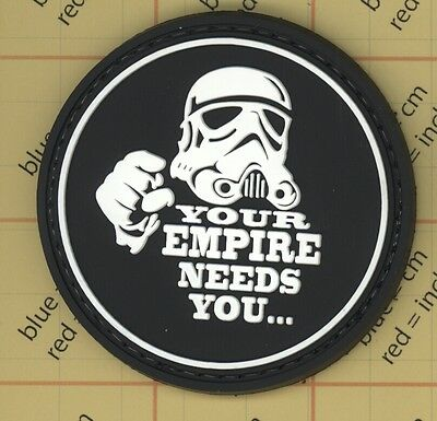 PVC Your Empire Needs You Morale Patch Star Wars Green Army tactical Vader USA