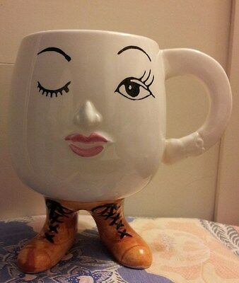 VINTAGE GIFTCRAFT TORONTO Lady with Boots Coffee Mug!!!