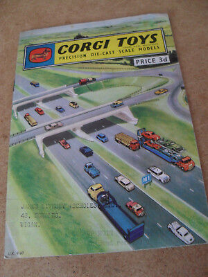 Corgi Toy Catalogue 1960 Uk Edition Excellent Condition For Age