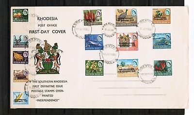 Southern Rhodesia 1966 Definitive Cover overprinted Independence