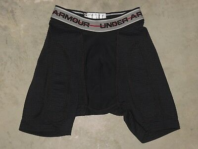 Under Armour Cup Pocket Protective Padded Compression Shorts Boys Youth Medium