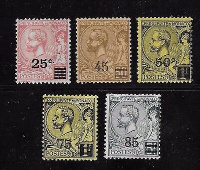 Monaco  Small Group 1922/24 Surcharges MH