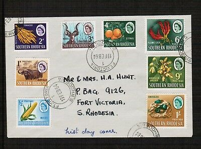 Southern Rhodesia 1964 Definitive stamps on Cover