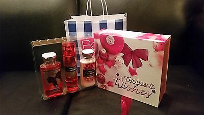 Bath & Body Works A Thousand Wishes Gift Set Lotion , Shower, Mist  fab