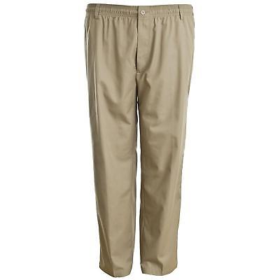 New Mens Carabou Elasticated Waist Work Casual Plain Rugby Trousers Pants 32-60