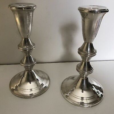 WONDERFUL Vintage PAIR STERLING SILVER CANDLESTICKS by Duchin Creations GORGEOUS