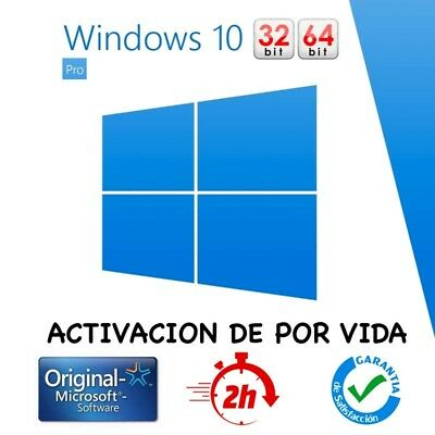 Windows 10 Pro Key Clave 32/64 Bits Multilenguaje 100% Original +Envio Gratuito