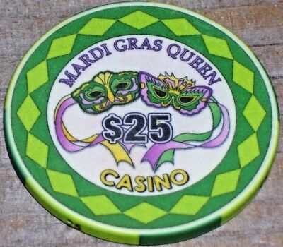 $25 Gaming Chip From The Mardi Gras Queen Casino Tarpon Springs Fl