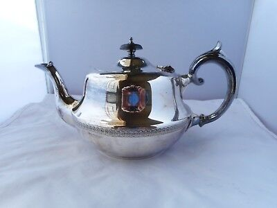 FRANK COBB&co SILVER PLATE TEAPOT-25cms long and 12cms high