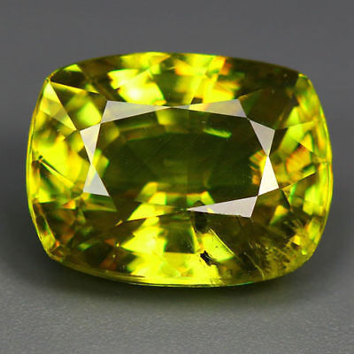 4.12 Cts_World Class Limited Edition_100 % Natural Titanite Green Sphene_Russia