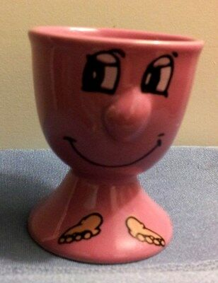 Pink Funny Face Egg Cup In Excellent Condition!!!