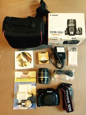 Canon EOS 550D EF-S 18-55 IS KIT With Bag In Perfect Condition