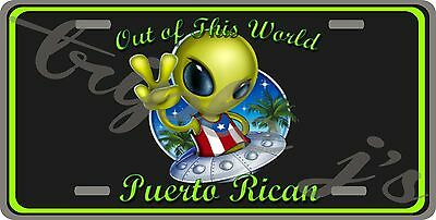 puerto rico license plate out of this world