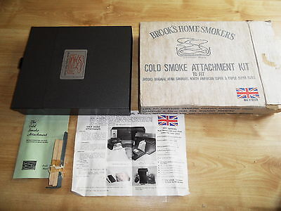 Brook's Home Smoker Cold Smoke Attachment Kit Boxed never used vintage r470