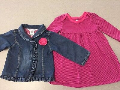 Girls OshKosh Jacket- 9mo And Old Navy Dress - 6-12 Mo Lot