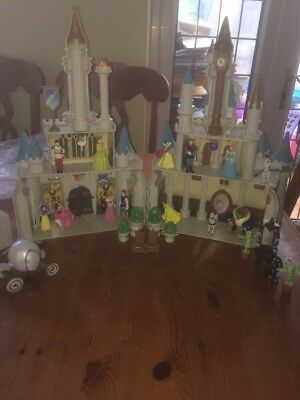 RARE Disney Cinderella Monorail Castle Playset Incomplete With Figures RRP £220+
