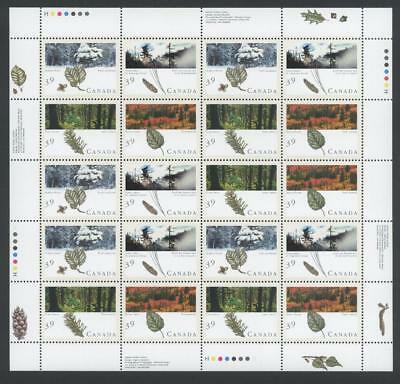 CANADA SHEET 1283-1286ph 39c x 20 MAJESTIC FORESTS OF CANADA 90% OF FACE