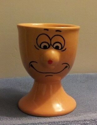 Gold Funny Face Egg Cup In Excellent Condition!!!