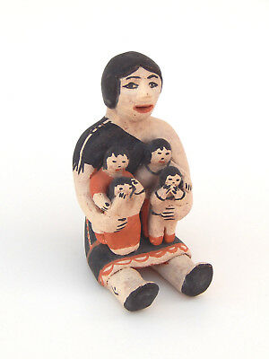 Seferina Ortiz Cochiti Native American Indian Storyteller Pueblo Pottery Doll