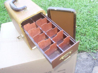 Vintage Photographic Slide 1950's ? Carry Case 3 Drawers inside Carry handle
