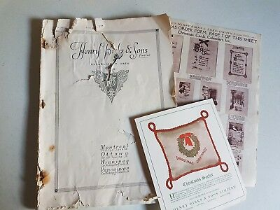 Antique Vintage Early 1900s Henry Birk and Sons Catalog Catalogue Jewelry