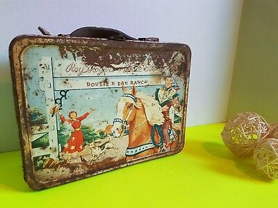 Vintage Roy Rogers Metal  Lunchbox Lunch Kit American Thermos Doolittle Company