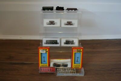Assorted Lot Of Marklin Etc Z Gauge Mini Club Locomotive Rolling Stock Etc