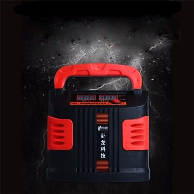 350W 15A AUTO Plus Adjust LCD Battery Charger 12V-24V Car Jump Starter Booster