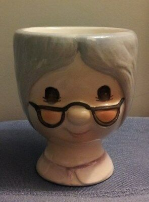 Vintage Granny Egg Cup For Your Breakfast Table!!!
