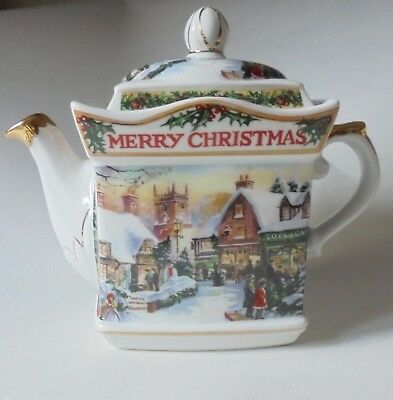 'past Times'  Ceramic Teapot -   Victorian Christmas