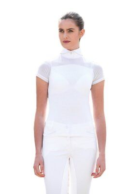 Horseware Ireland Ladies Emma Pique Short Sleeve Competition Top, White X-Small