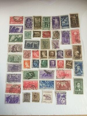 ITALY postage stamps collection 1901- 1942 50 stamps (122)