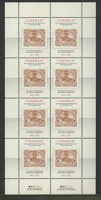 CANADA SHEET 1900 47c x 8 CANADA POST - 150 YEARS 90% OF FACE